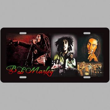 1 pc Bob Marley Marijuana Music Artist Reggae singer Parking Tin Plate Sign wall man cave Decoration Metal Art Vintage Poster