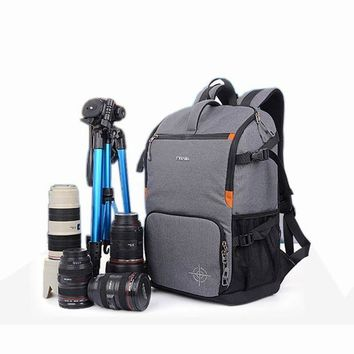 DCCKFV3 DSLR Camera Photo Backpack Padding Divider Insert with 15' Laptop Pack Travel Bag for Canon 5D 7D 600D Nikon D7200 Sony a6000 37