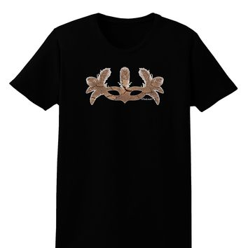 Earth Masquerade Mask Womens Dark T-Shirt by TooLoud