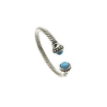 Twisted Metal Turquoise Cuff Bracelet