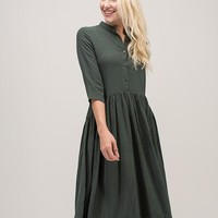 The Mckinnie Dress in Forest