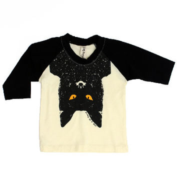 Bat Eyes Kid Baseball Tee