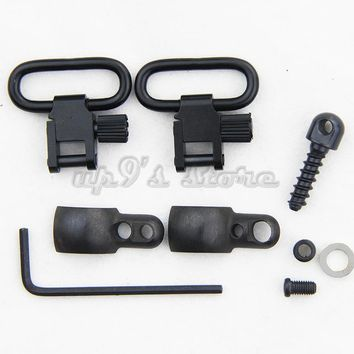 10 Sets Lever Action Rifle Sling Mount Kit Split Band with 1'' QD Sling Swivels for Winchester Marlin Mossberg