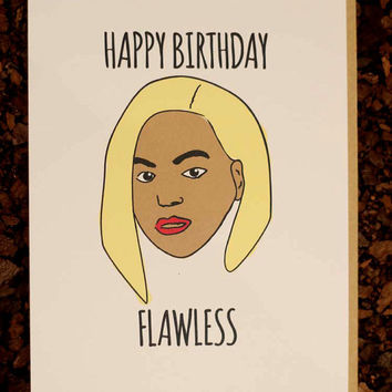 Beyonce Birthday Card Flawless For Her Girlfriend