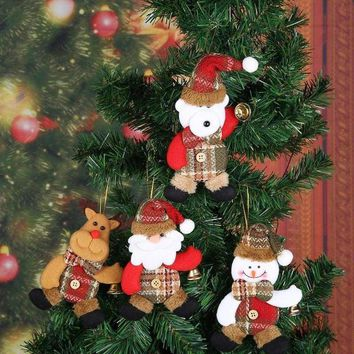 Santa Snowman Doll Pendant for Christmas Tree Hanging Ornament