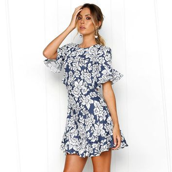 Blue Bayou Ruffle Dress