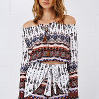 Cupshe Bad Moon Boho Off the Shoulder Matching Set