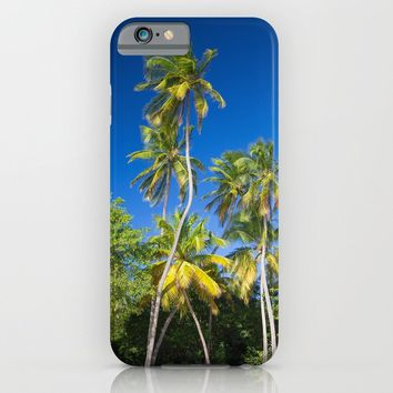 Coconut Palms on Tropical Island iPhone & iPod Case by Cinema4design