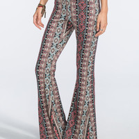 Full Tilt Ethnic Boho Womens Wide Leg Pants Multi  In Sizes