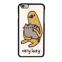 pusheen cat and sloth iphone 6 6s 4 4s 5 5s 6 plus cases