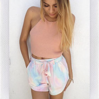 Color Waves Shorts- Pastel