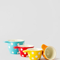 POLKA DOT CERAMIC MEASURING CUPS