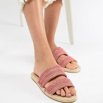 ASOS DESIGN Java Espadrille Mule Sandals at asos.com