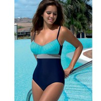 One Piece Swimsuit Plus Size Vintage Retro Bathing Suits