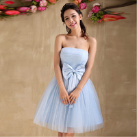 New 2016 White Short Prom Dress Tulle Peacock Sexy Evening Party Dresses Robe De Mariage Ball Gown