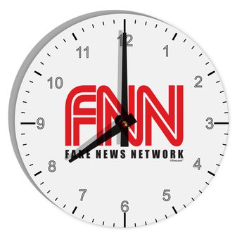 """Fake News Network Funny 8"""" Round Wall Clock with Numbers by TooLoud"""