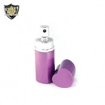 Lab Certified SW 18 3/4 oz Heart Perfume Pepper Spray PURPLE