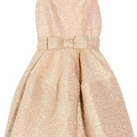 Lanvin | Bow-embellished textured-crepe dress | NET-A-PORTER.COM