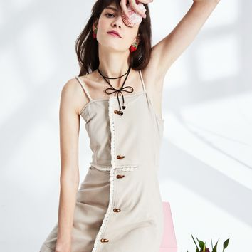 Cut Off Slip Dress