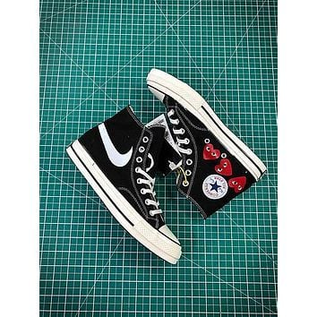 Comme Des Gar?ons X Converse Chuck Taylor All Star Cdg 1970s Canvas Shoes