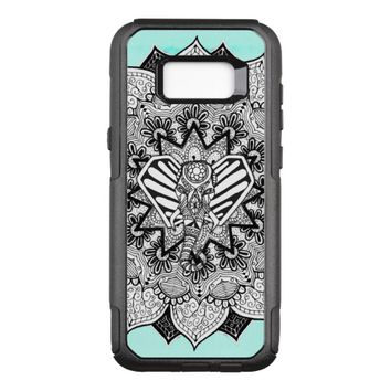 Boho Tangle Elephant and Hand Drawn Mandala OtterBox Commuter Samsung Galaxy S8+ Case