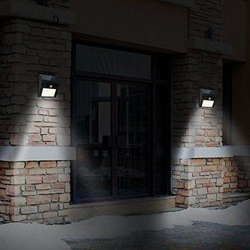 8 LED Solar Motion Sensor Outdoor Wireless Waterproof Wall Lights Yard Driveway