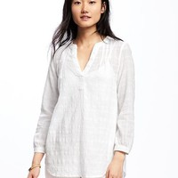 Dobby-Windowpane Shirt for Women | Old Navy