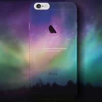 Aurora night sky mobile phone case for iPhone 7 7 plus iphone 5 5s SE 6 6s 6 plus 6s plus + Nice gift box 072301