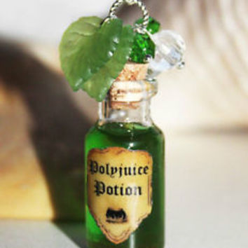 Polyjuice Potion Glass Bottle Pendant Necklace. Harry Potter