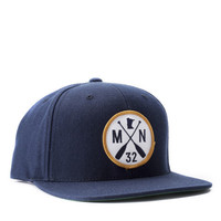 MN Paddle Patch Snapback, Navy