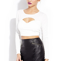 FOREVER 21 Biker Babe Faux Leather Skirt Black Large