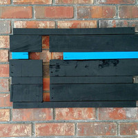 Thin Blue Line Cross - Thin Blue Line Wall Art - Thin Blue Line Wood Wall Art - TBL Art - Thin Blue Line Gift - Rustic Thin Blue Line Decor
