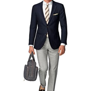 Jacket Blue Plain Havana C843i | Suitsupply Online Store