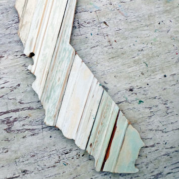California Wall Art, Wood State Outline, Wooden California Mosaic, Los Angeles Decor Wood California Art Wooden State Cutout Boho Chic Decor