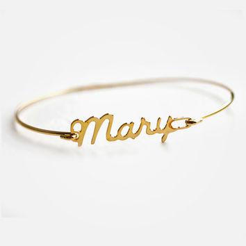 Personal Signature Bracelet - Your Handwriting Bracelet - Sterling Silver - Gift Box Included - Name Bangle - Your Handwriting Bracelet