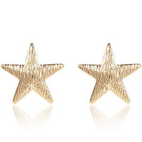 GOLD TONE LARGE STUD EARRINGS
