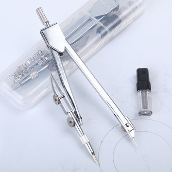 1 Pcs Affordable New School Math Stationery Drawing Tool Silver Tone Metal Drawing Instruments Compasses
