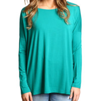 Green Piko Long Sleeve Top