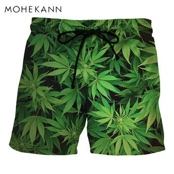 WEED LEAF QUICK DRY BOARDSHORTS