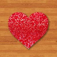 Red Vine Glitter Sparkle Printed Mouse Pad Desk Deco Rubber Heart Love MousePad New Year Gift Computer Pad Personalized Valentine Gift Photo
