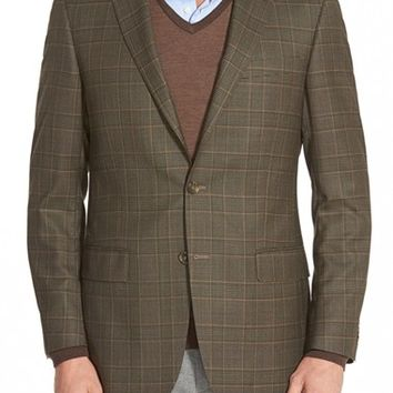 Hart Schaffner Marx 'New York' Classic Fit Plaid Wool Sport Coat,