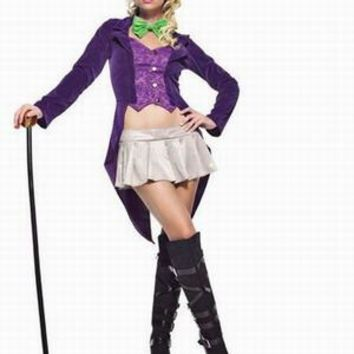 MOONIGHT Role-Playing Game Uniforms Circus Magician Costume Temptation Tuxedo Trainer Clothing Halloween Costume For Women