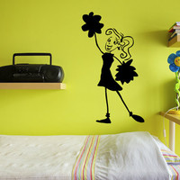 Cheerleader Vinyl Wall Decal