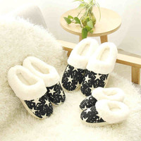 Plush Warm Winter House Slippers