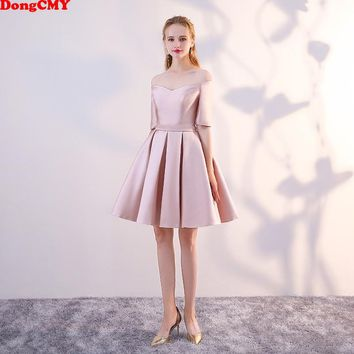 DongCMY WT10688 new 2018 short plus size married sexy girl Party vestidos Cocktail Dress