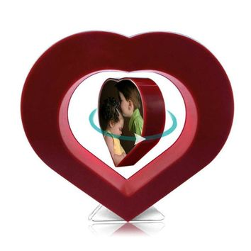 Wooden Heart Floating Photo Frame