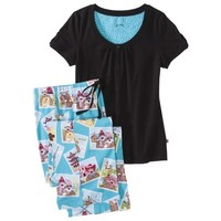 Nick & Nora® Women's Knit Pajama Set - Monkey Travels Globe