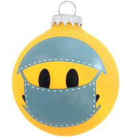 Scrubs On Smile Face Glass Ornament