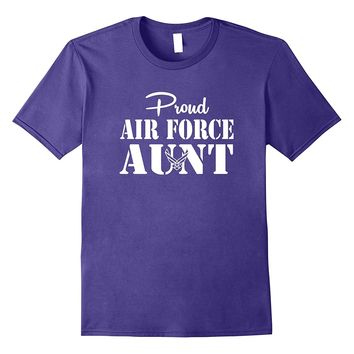 Military Proud US Air Force Aunt Simple White T-shirts