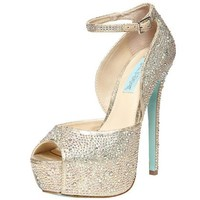 Betsey Johnson Champagne Heels Style SB-Kiss